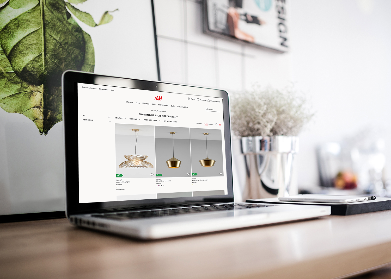 H&M Website HouseOf Linear CGI Products
